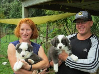 Michelle & Oscar, Nigel & Blue