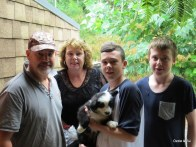Mathew, Clare, Hudson with Rex & Bryn