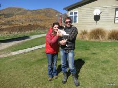 Susanna & Glen in TeAnau with Cooper