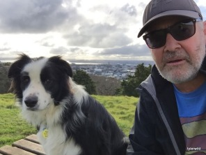 Sues brother Rex with Dad (Mt Eden)