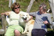 Sue, Jasper and my Mum 2008