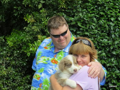 David and Trudie with Sky