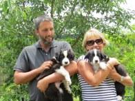 Julie with Hugo and Charlie
