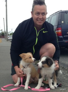 Shane with Ziggy and Mollie