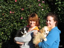 Lyn with Echo, Geri with Louie