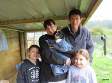 Brenda, Dennis, Katelin, Connor with Riley