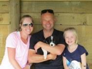 Leanne, Matt, Millie with Indie