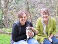 Fiona, Aunty Ingrid with Jess