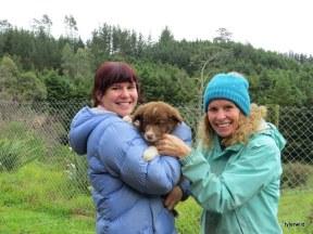 Victoria and Trudi with Jasper