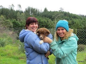 Victoria and Trudi with Jasper