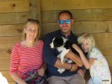 Jenny, Jason, Amelia with Poppy