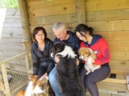 Truffles family-Sandra, Paul, Kelly and Mishka and Chico